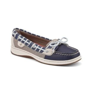 Sperry Angelfish Breton stripe boat shoes blue Sz8
